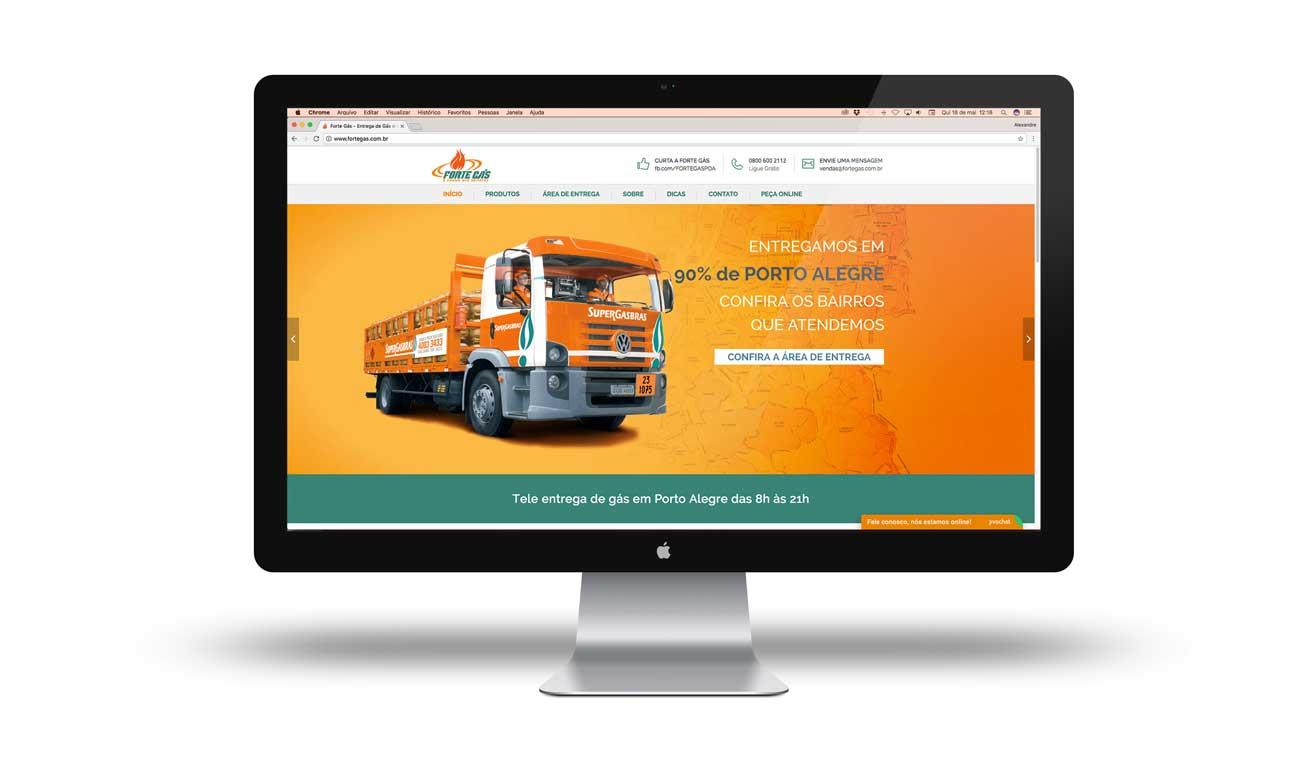 criação de site para a Forte Gás distribuidora de gás de cozinha em Porto Alegre