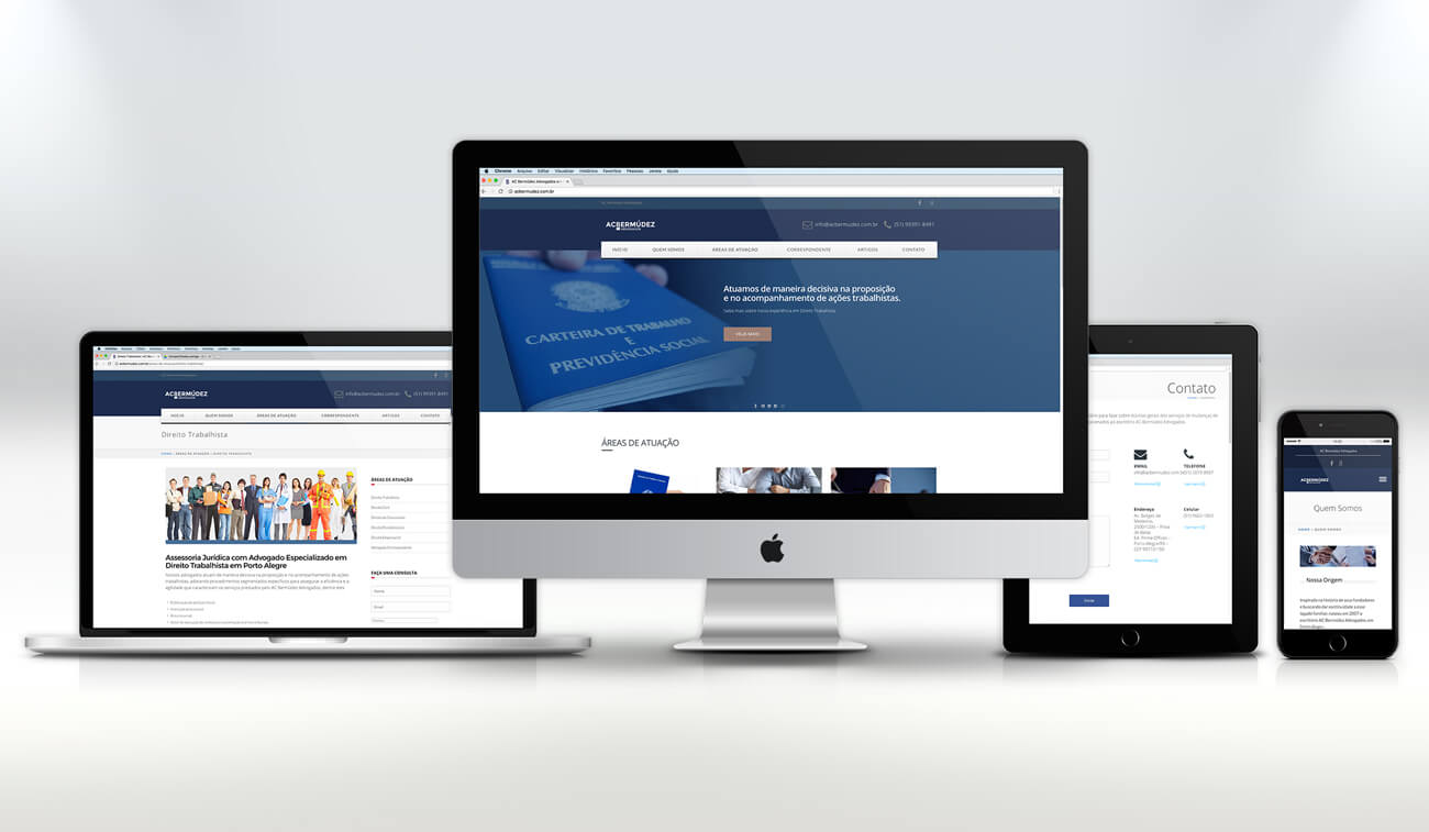 Criação de Site responsivo para advogados em Porto Alegre