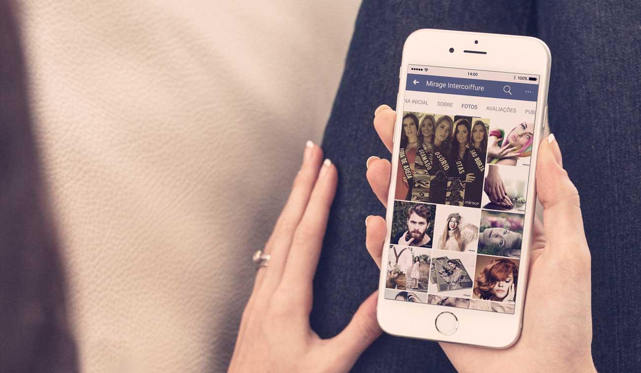 gestão de mídias sociais facebook mirage intercoiffure salão de beleza porto alegre bedez