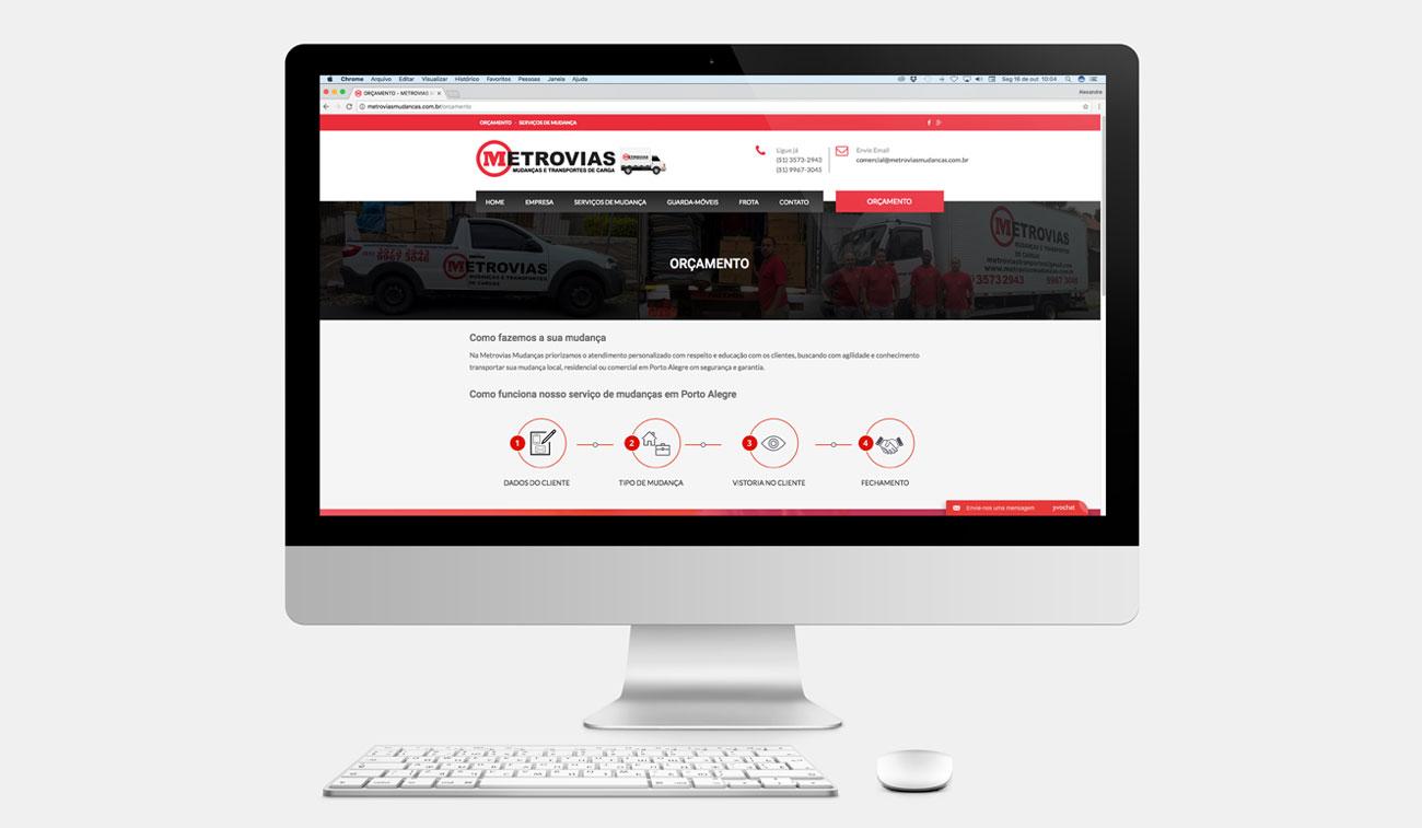 criação de site institucional empresa de mudança e transportes