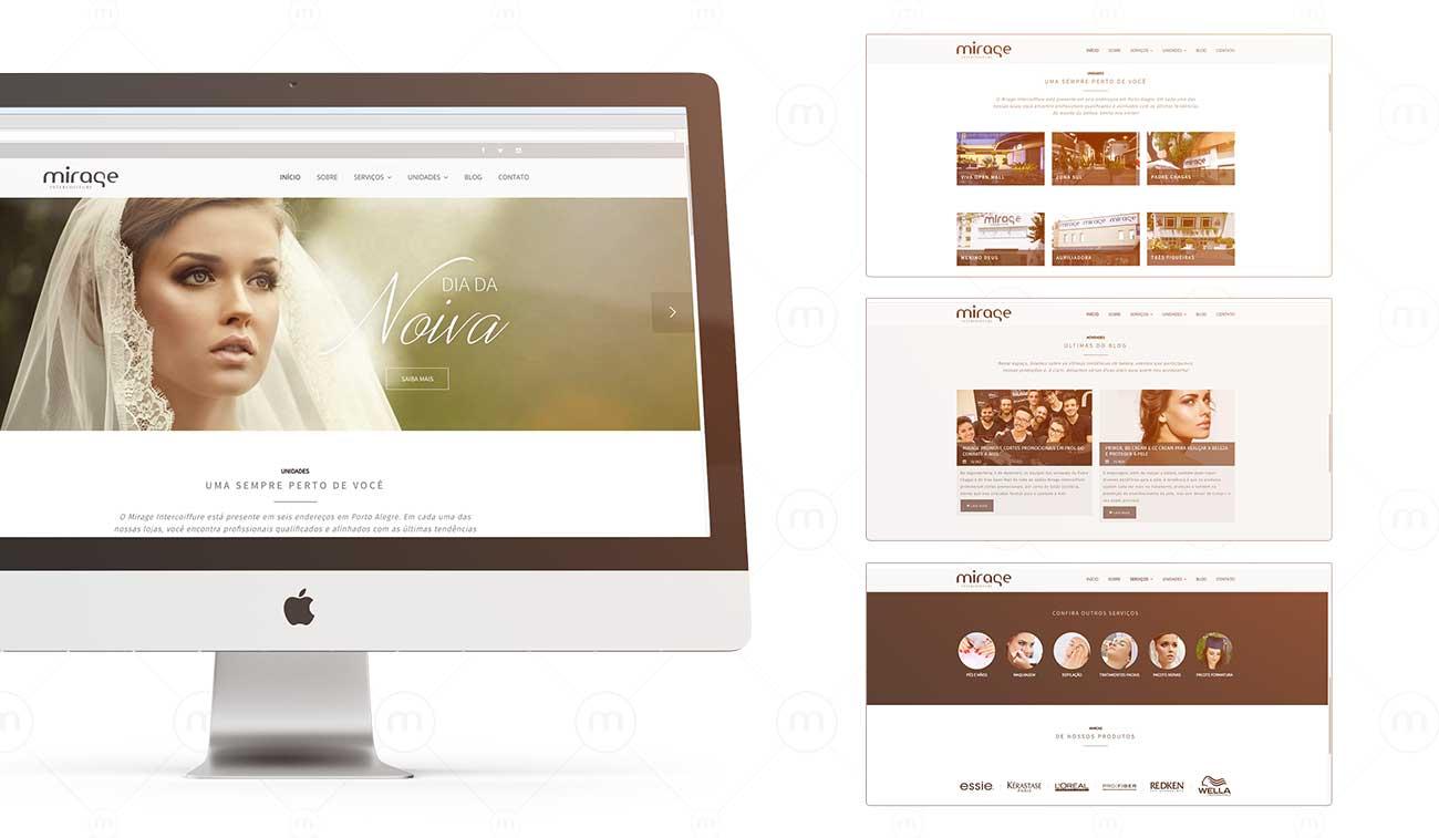 criação de site mirage intercoiffure salão de beleza porto alegre