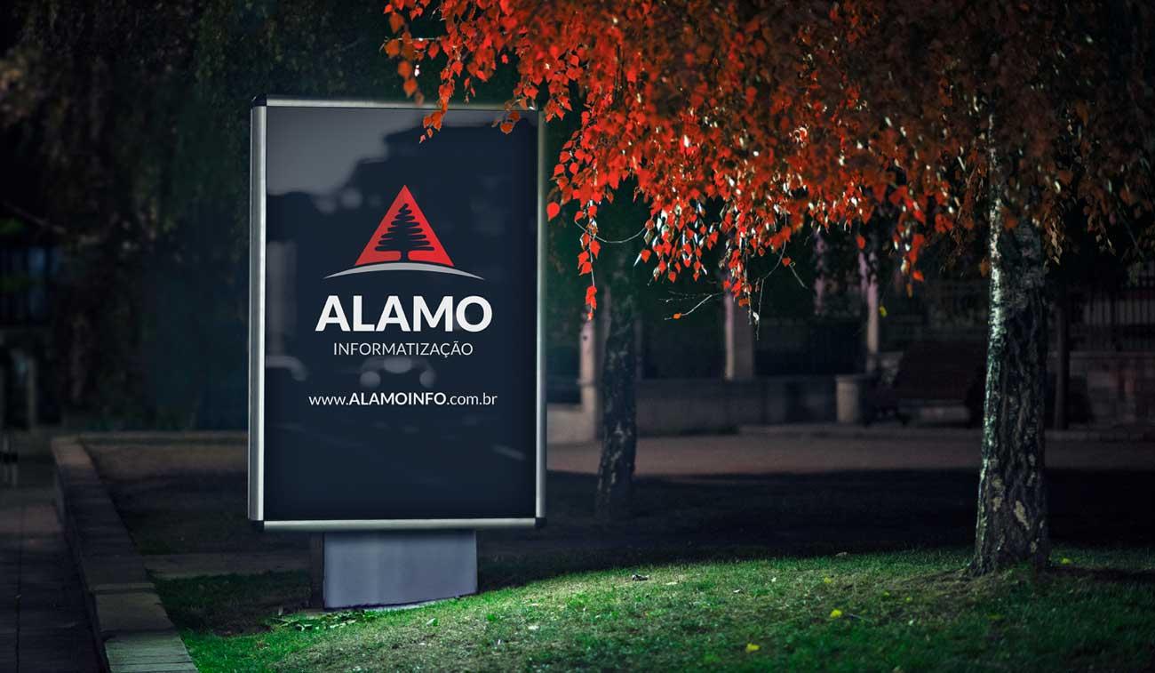 criação de marca empresa de informática alamo informatização uruguaiana