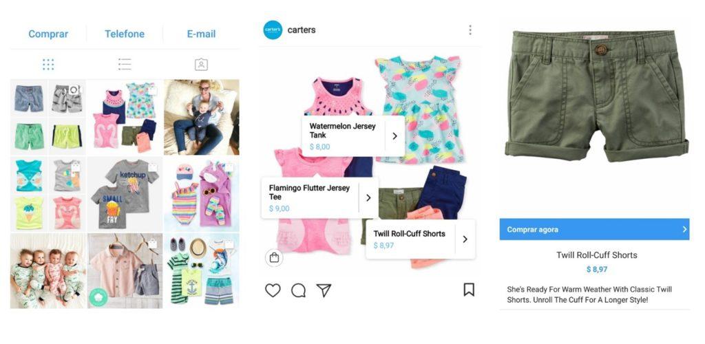 utilizar loja instagram novidade