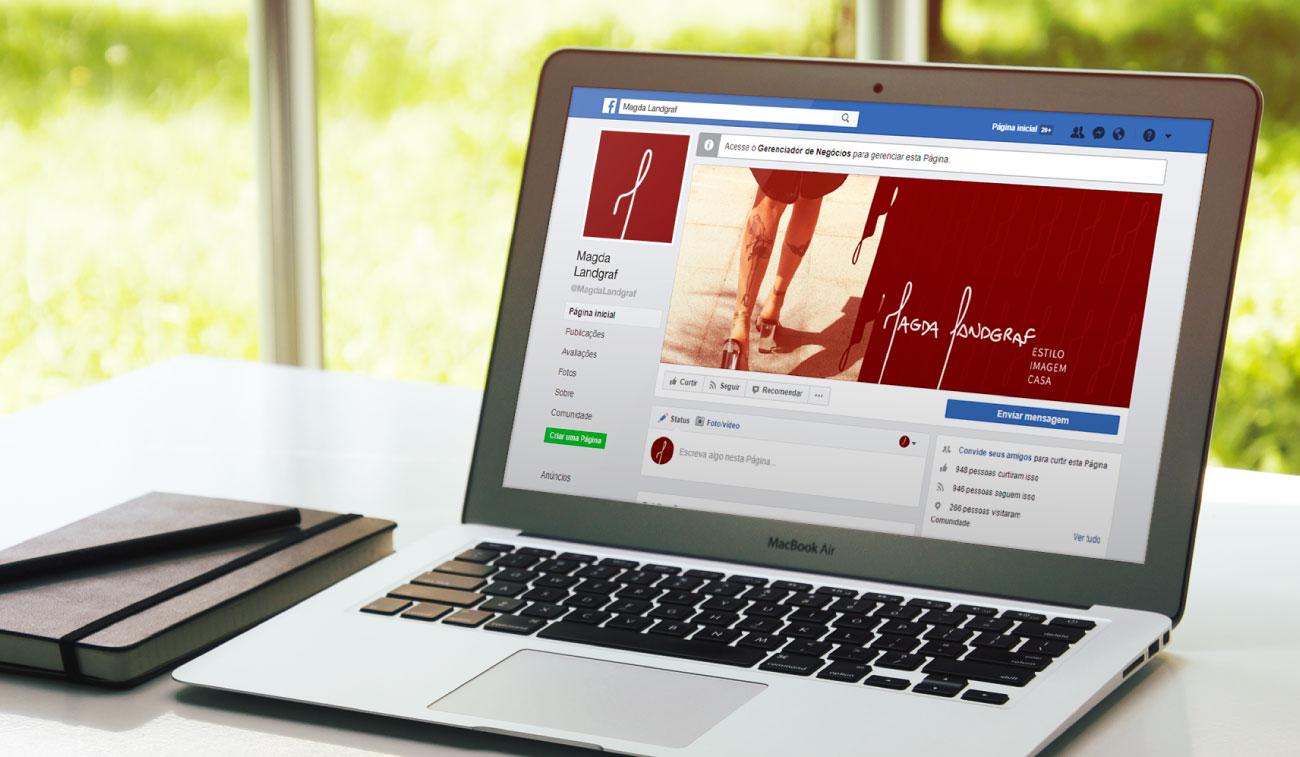 Facebook rede social Magda Landgraf