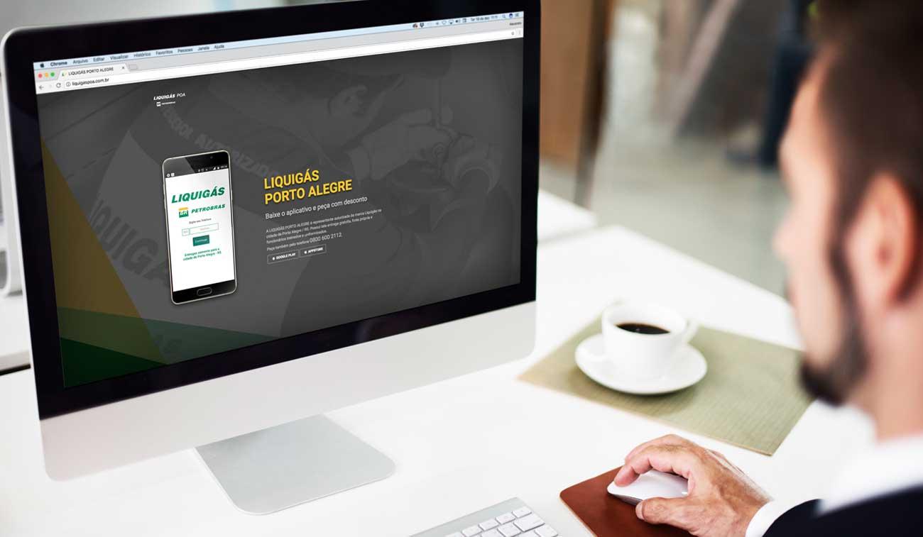 Liquigás Poa Página de espera landing page Agência Bedez Comunicação