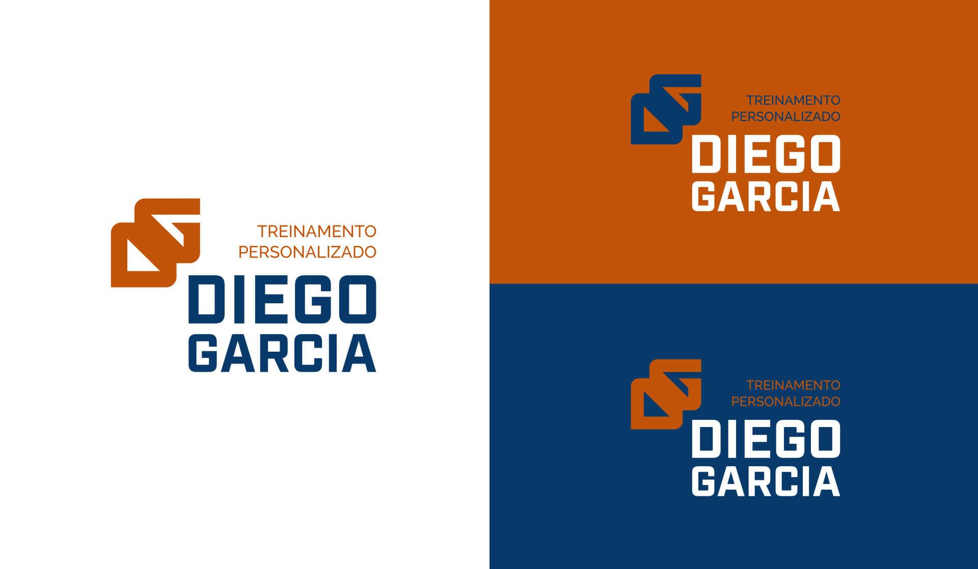 Criação de identidade visual logitipo marca para Diego Garcia persinal trainer educador físico de Uruguaiana