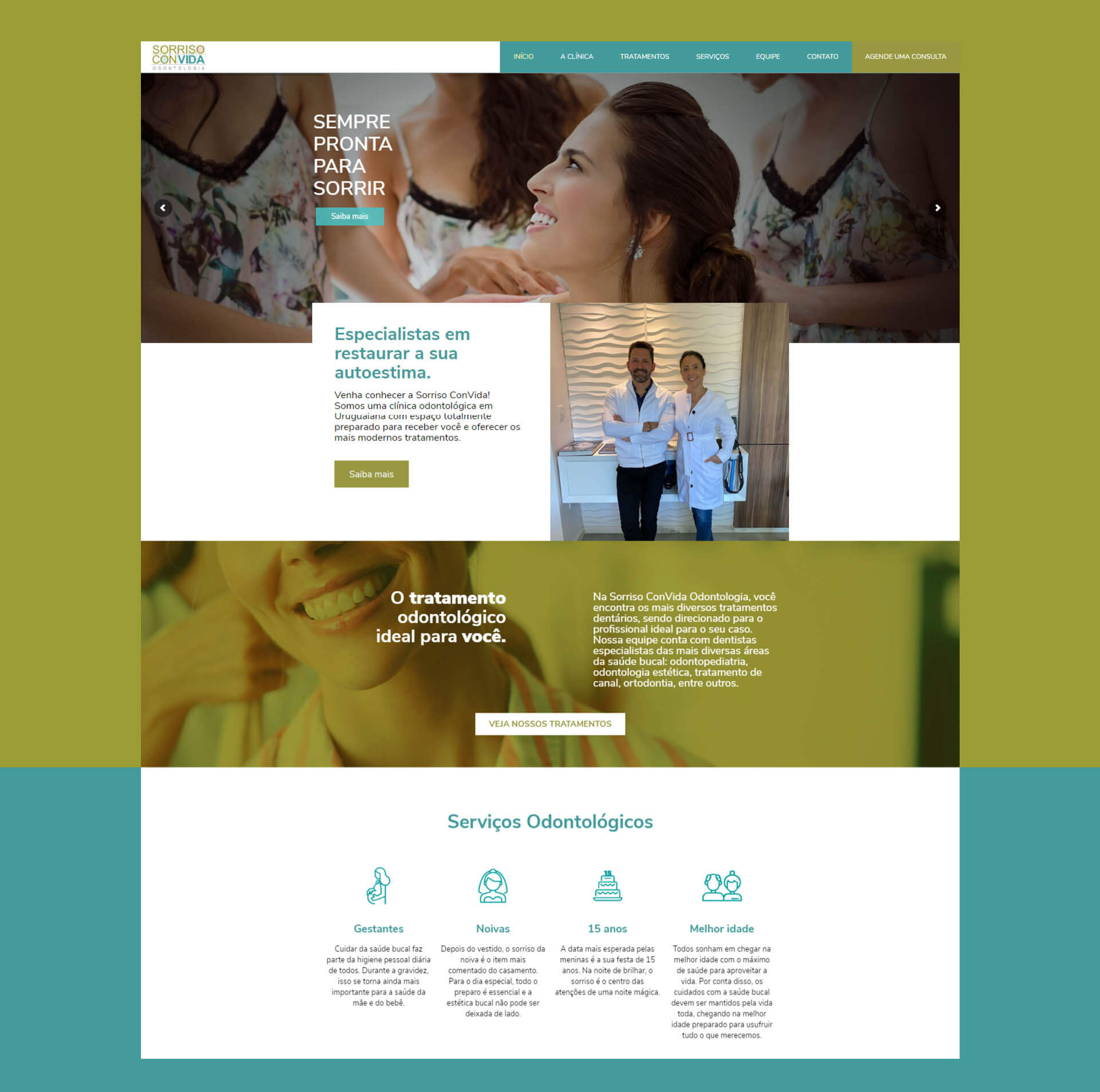 Criação de Site - Sorriso Convida Odontologia Uruguaiana