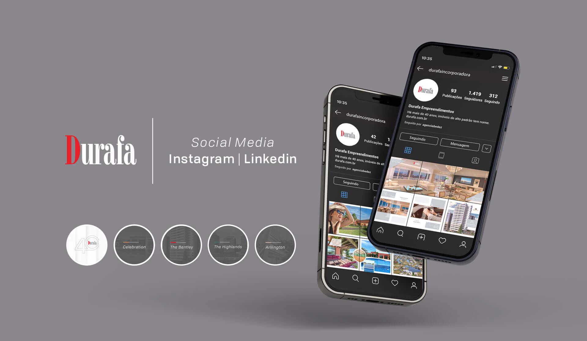 gestão de redes sociais durafa empreendimentos imobiliários porto alegre bedez comunicação