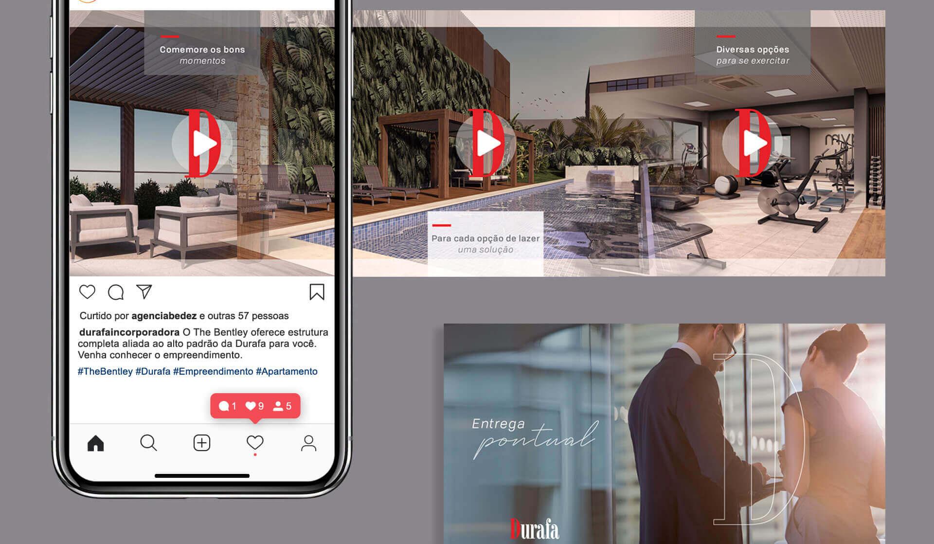 gestão de redes sociais para construtora durafa empreendimentos imobiliários porto alegre bedez comunicação