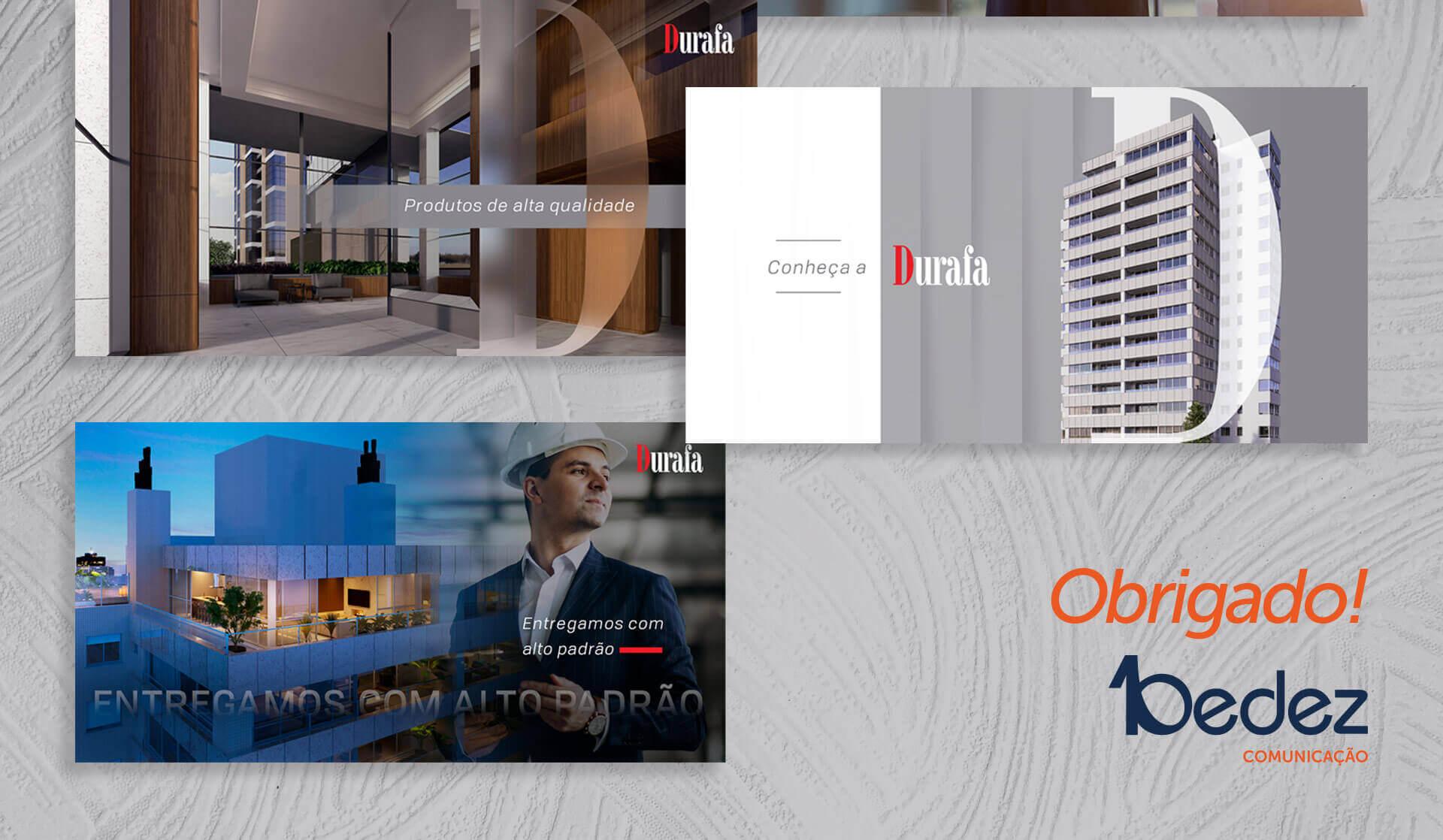 gestão de redes sociais linkedin para construtora durafa empreendimentos imobiliários porto alegre bedez comunicação