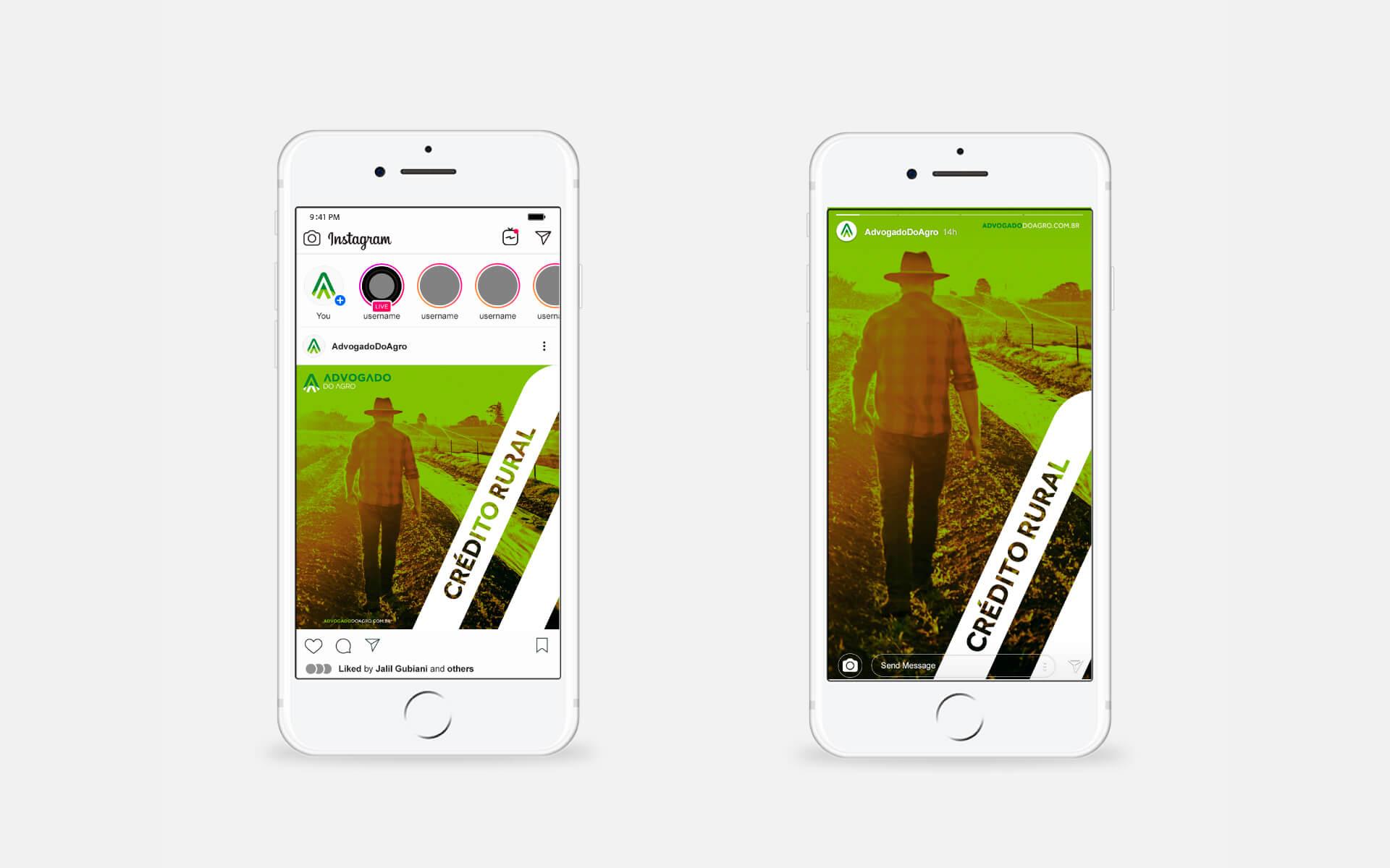 Criação de artes para redes sociais para advogado do agronegócio Bedez Comunicação