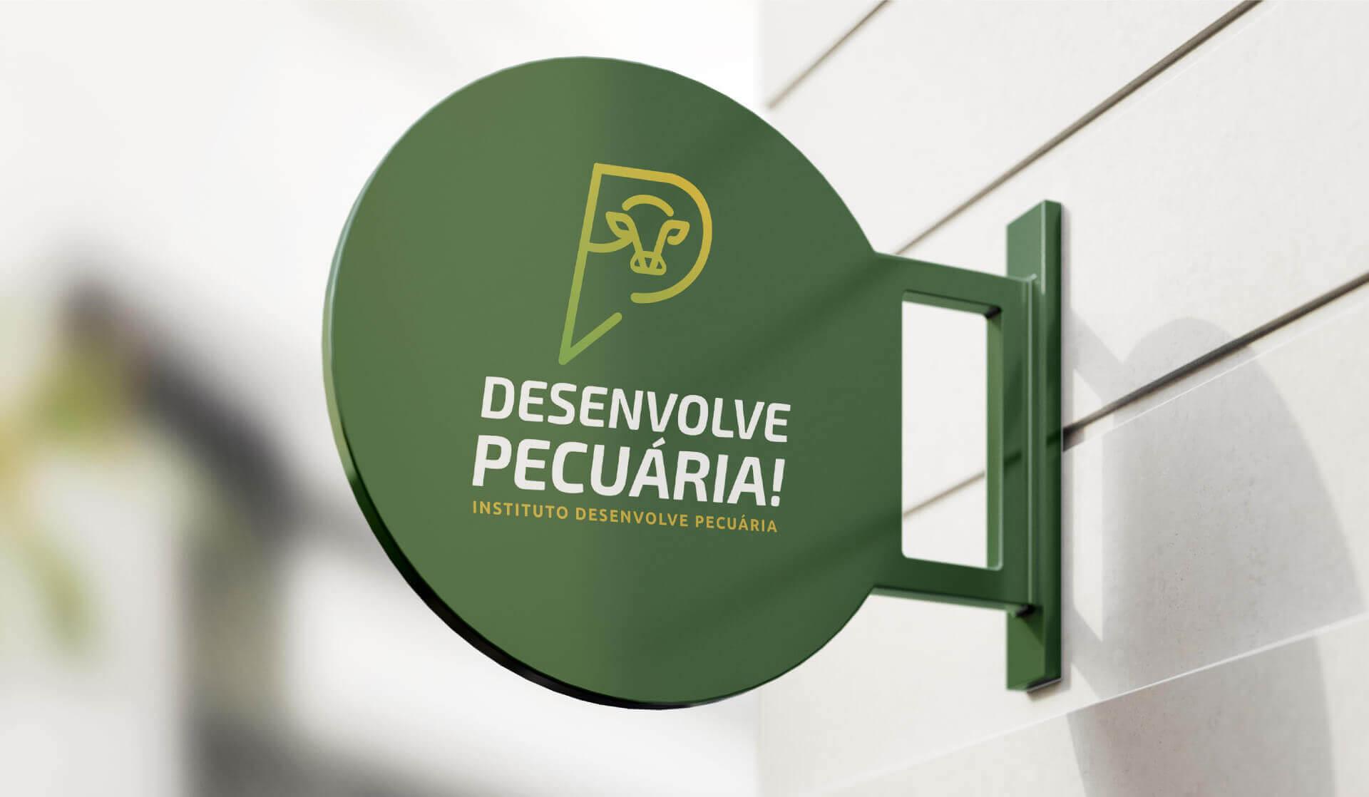 placa do Instituto Desenvolve Pecuária Bedez Comunicação