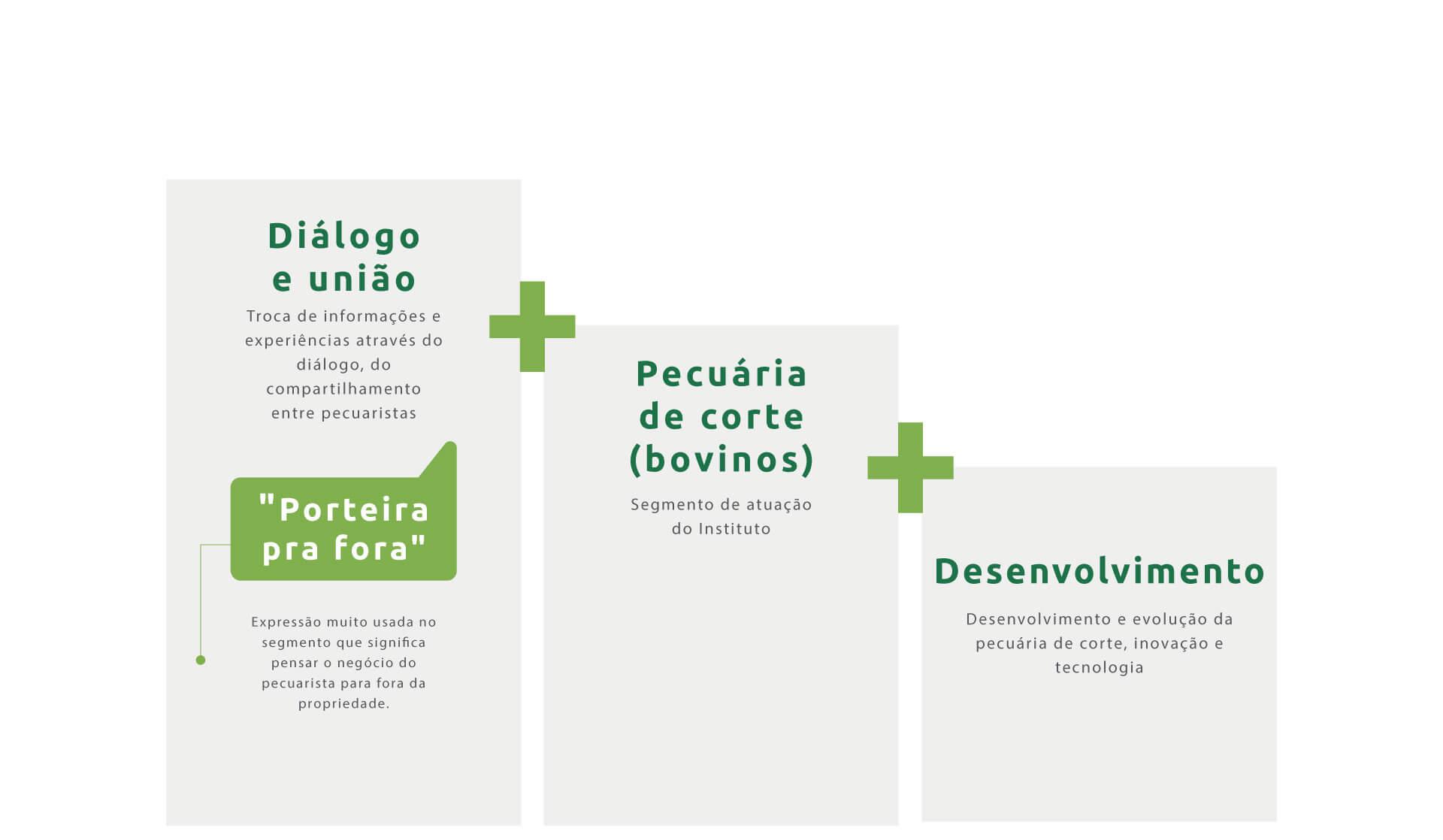 conceito criativo para a criação da marca do Instituto Desenvolve Pecuária